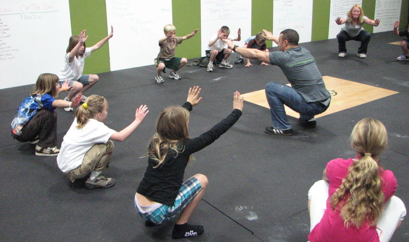 kids fitness group training